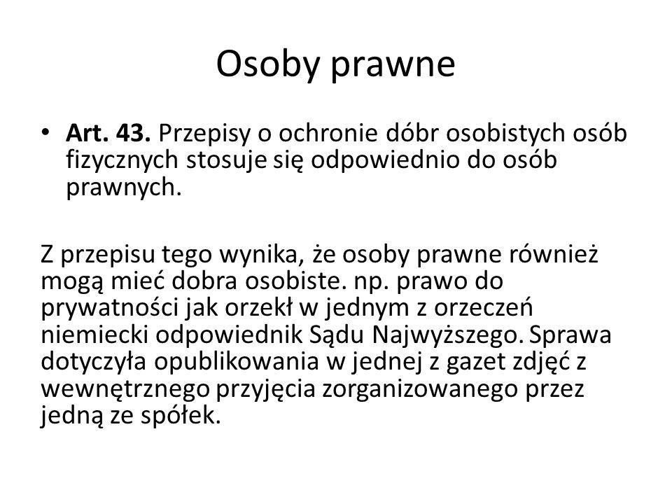 Osoby prawne Art.43.