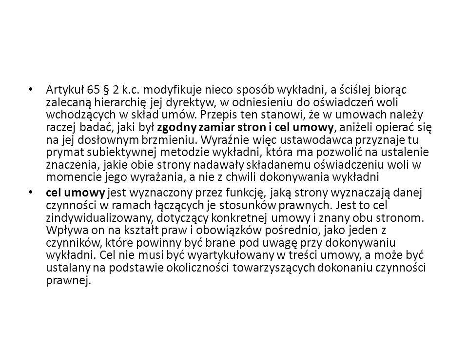 Artykuł 65 § 2 k.c.