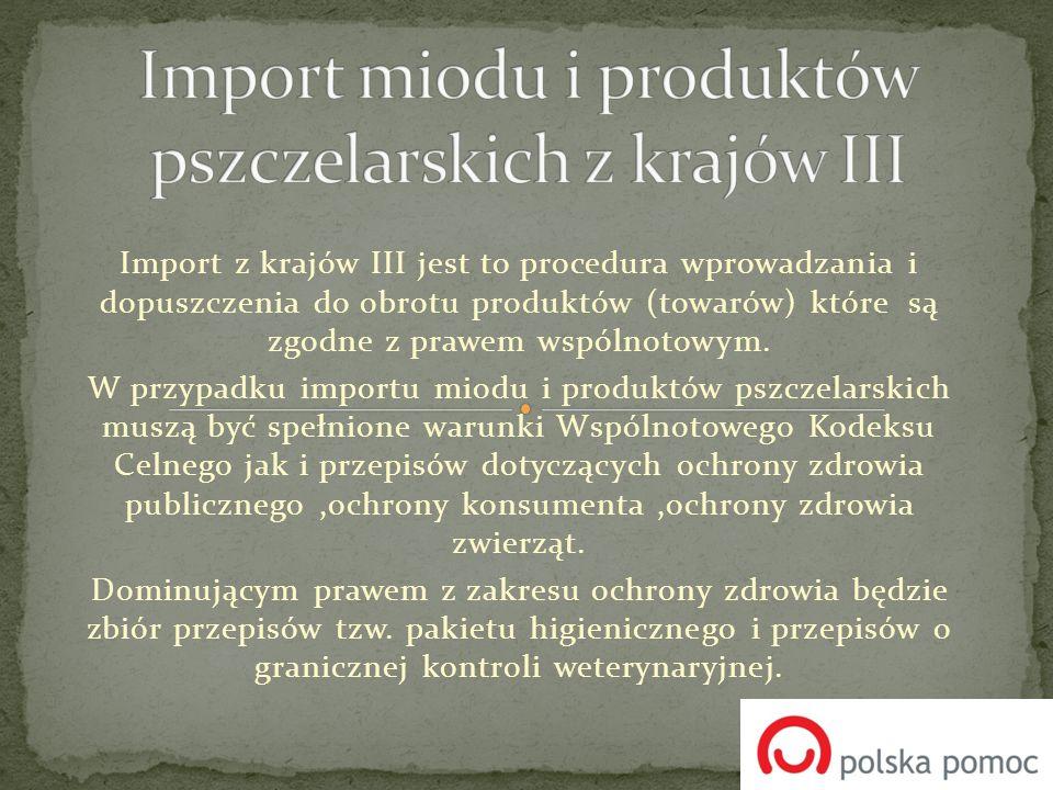 Import z krajów III jest to procedura wprowadzania i dopuszczenia do obrotu produktów (towarów) które są zgodne z prawem wspólnotowym. W przypadku imp