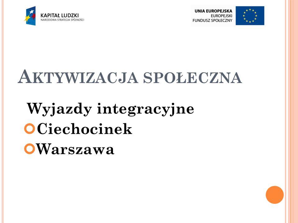 A KTYWIZACJA SPOŁECZNA Wyjazdy integracyjne Ciechocinek Warszawa