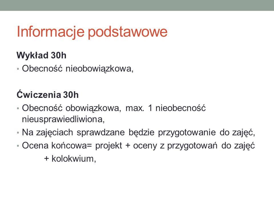 Informacje podstawowe W trakcie zajęć będziemy korzystać głównie z programu Statistica 10.0.
