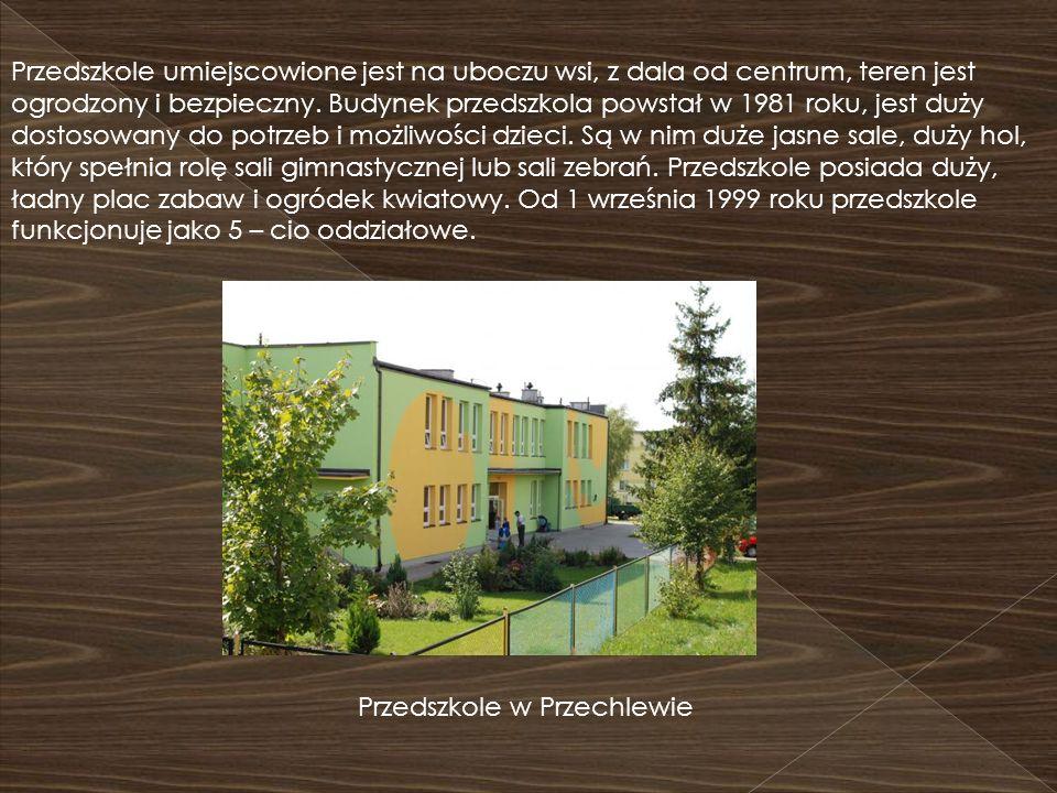 Przedszkole umiejscowione jest na uboczu wsi, z dala od centrum, teren jest ogrodzony i bezpieczny. Budynek przedszkola powstał w 1981 roku, jest duży