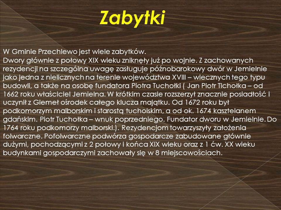 Dworek w Jemielnie Zespół dworsko - parkowy w Dąbrowie Człuchowskiej.