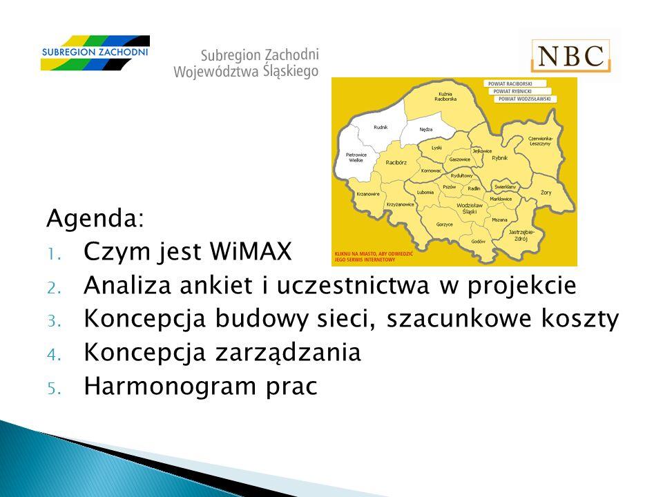 Agenda: 1. Czym jest WiMAX 2. Analiza ankiet i uczestnictwa w projekcie 3.