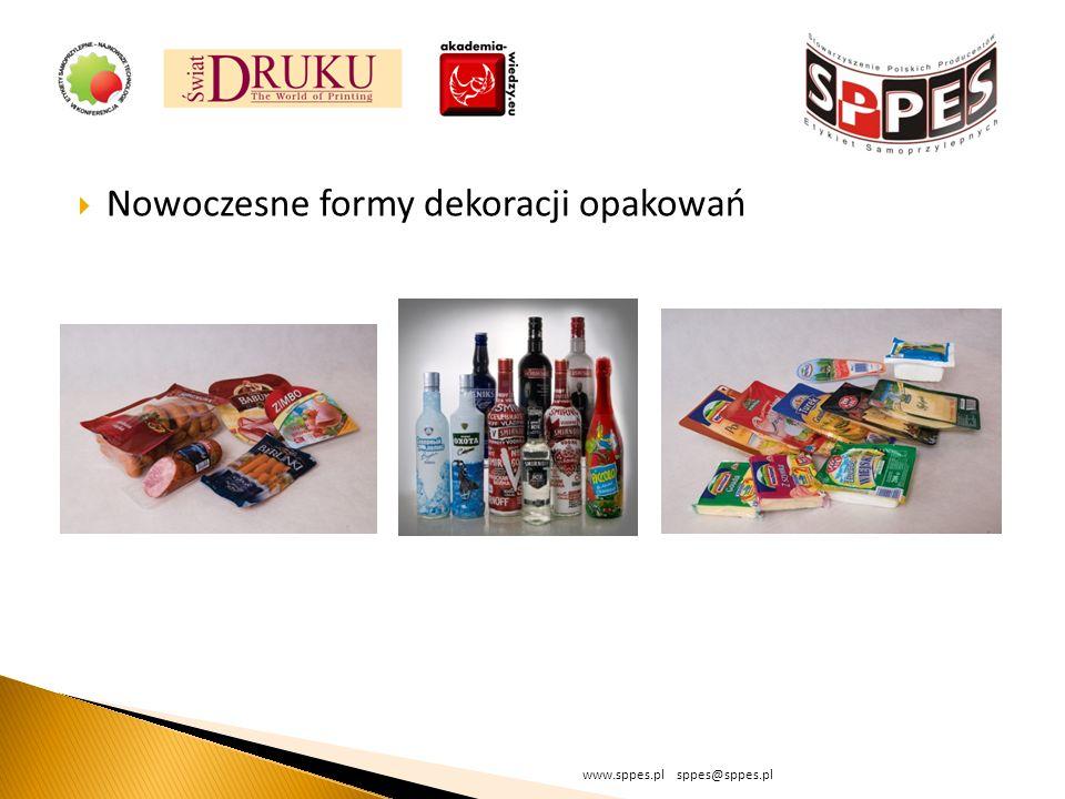 Nowoczesne formy dekoracji opakowań www.sppes.pl sppes@sppes.pl