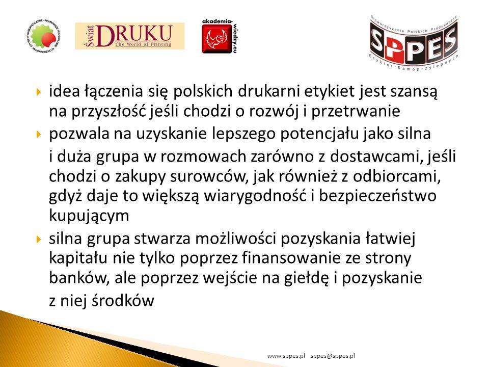 idea łączenia się polskich drukarni etykiet jest szansą na przyszłość jeśli chodzi o rozwój i przetrwanie pozwala na uzyskanie lepszego potencjału jak