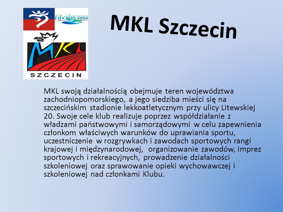 MARATOŃCZYK SZCZECIN MARATOŃCZYK jest najstarszym obecnie działającym klubem biegacza w szczecinie.