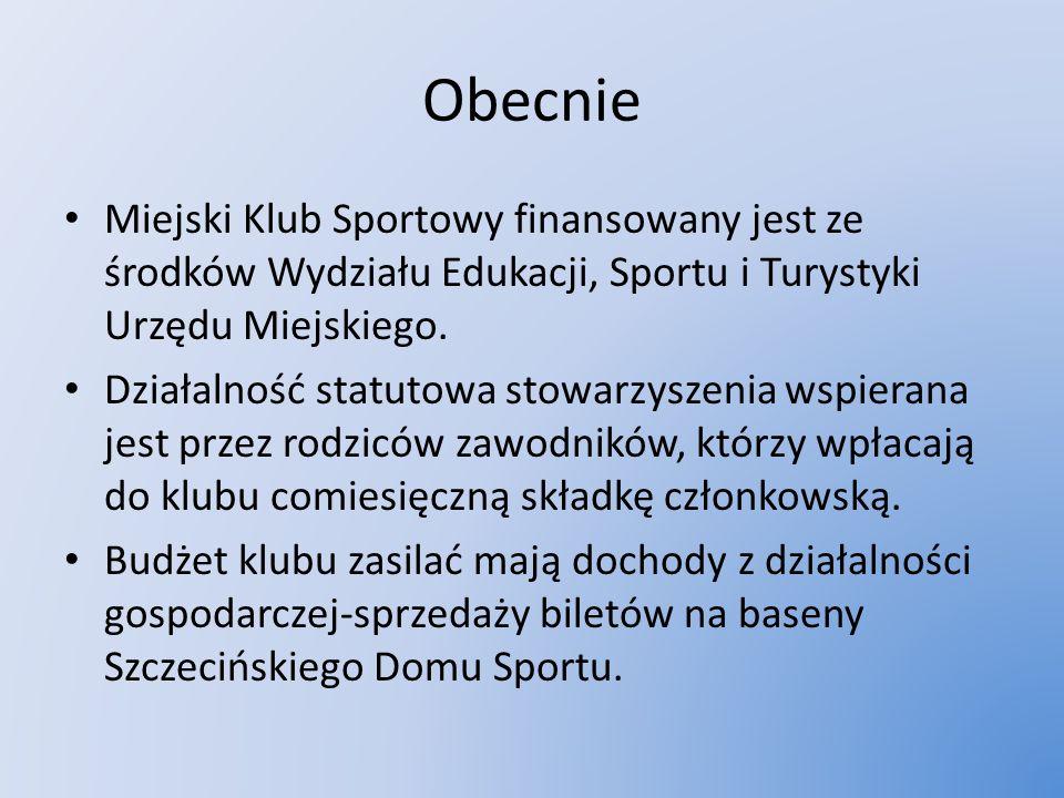 Obecnie Miejski Klub Sportowy finansowany jest ze środków Wydziału Edukacji, Sportu i Turystyki Urzędu Miejskiego. Działalność statutowa stowarzyszeni