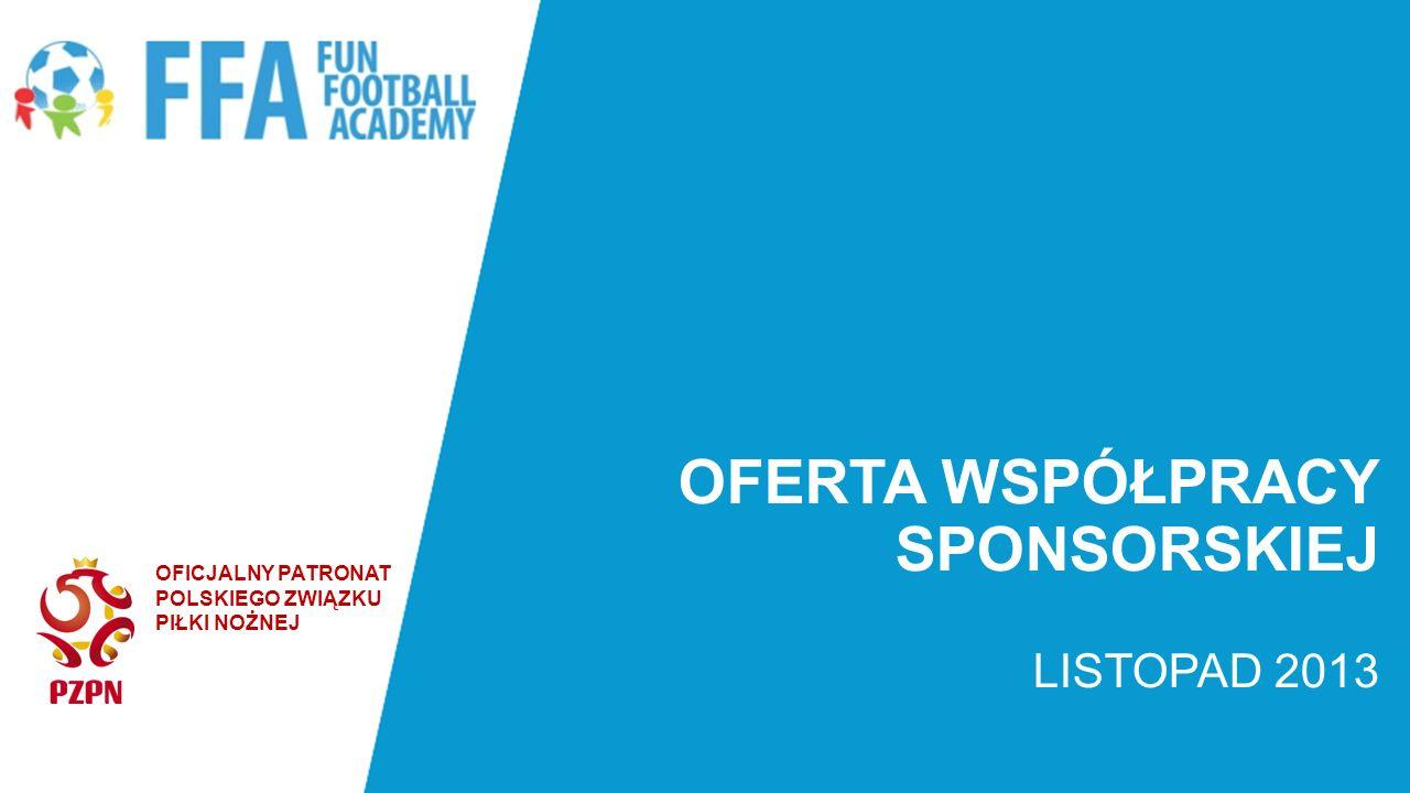 OFERTA WSPÓŁPRACY SPONSORSKIEJ Przedstawiamy Państwu propozycję współpracy sponsorskiej przy unikatowym, ciągle rozwijającym się projekcie sportowym – Fun Football Academy, jednej z najlepszych szkółek piłkarskich w Polsce.