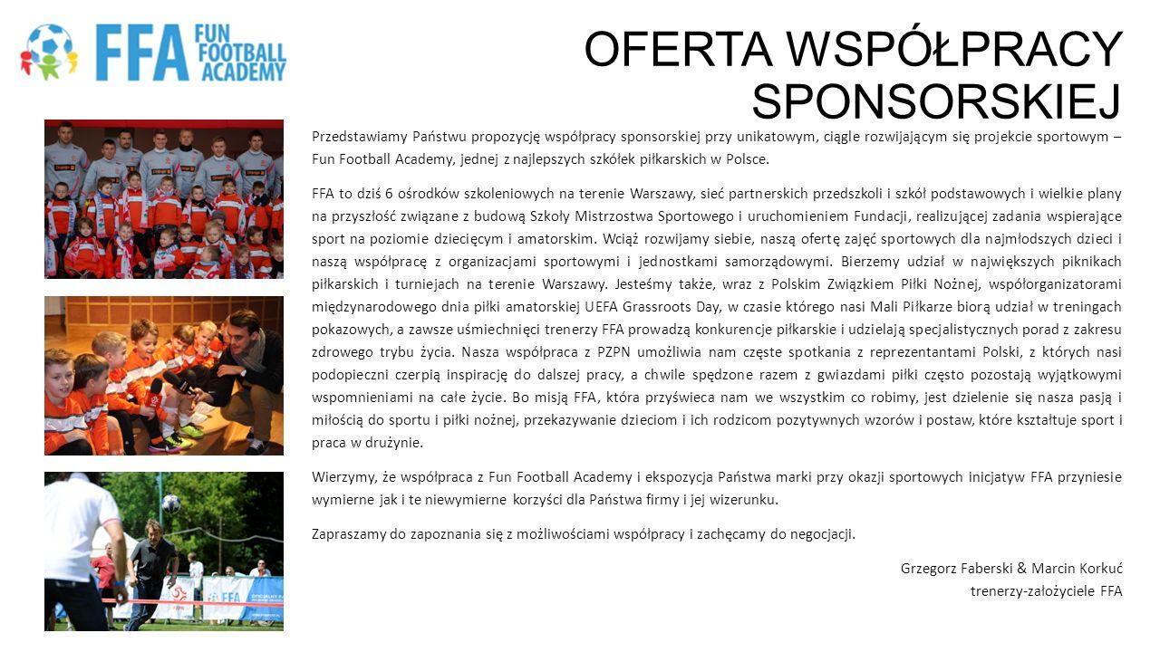 OFERTA WSPÓŁPRACY SPONSORSKIEJ Przedstawiamy Państwu propozycję współpracy sponsorskiej przy unikatowym, ciągle rozwijającym się projekcie sportowym –