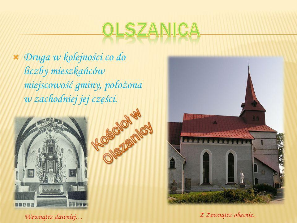 Gotycki kościół pod wezwaniem Nawiedzenia NMP.