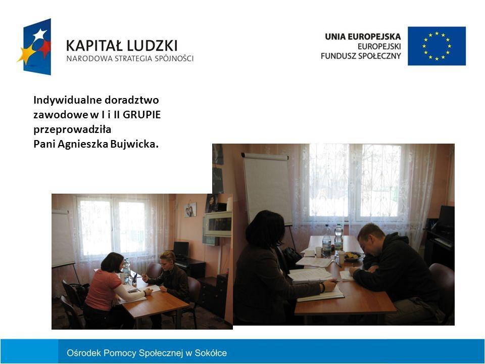 Indywidualne doradztwo zawodowe w I GRUPIE odbyło się w miesiącu marcu 2013 roku.