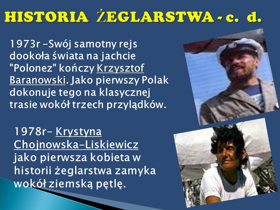 Krzysztof Baranowski 1973r -Swój samotny rejs dookoła świata na jachcie