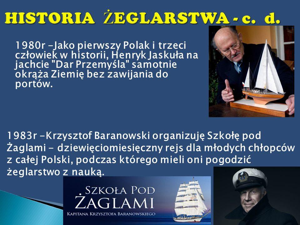 1980r -Jako pierwszy Polak i trzeci człowiek w historii, Henryk Jaskuła na jachcie