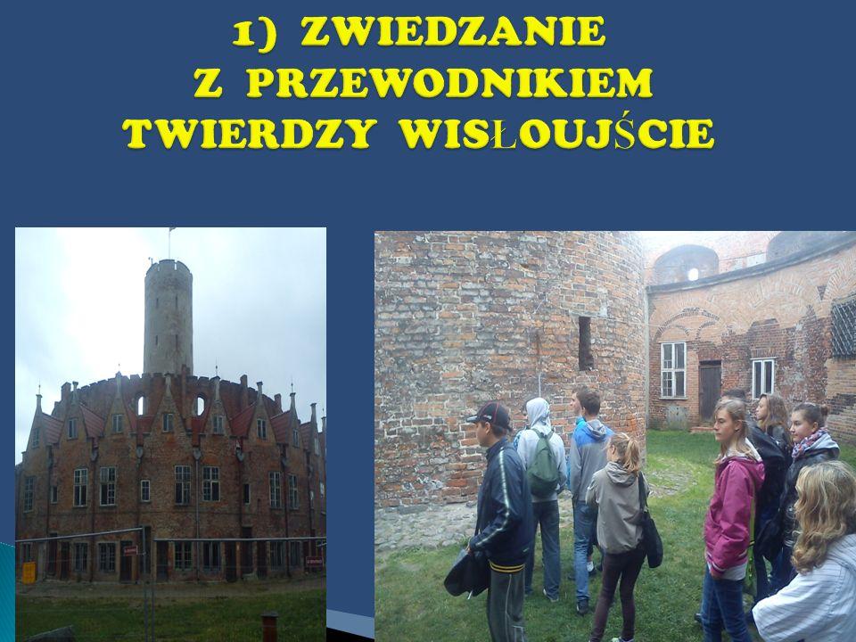 Z samego szczytu podziwialiśmy widok na bastiony: Artyleryjski, Ostroróg, Południowo–Wschodni,Furta Wodna i na Martwą Wisłę, Nowy Port, Westerplatte...