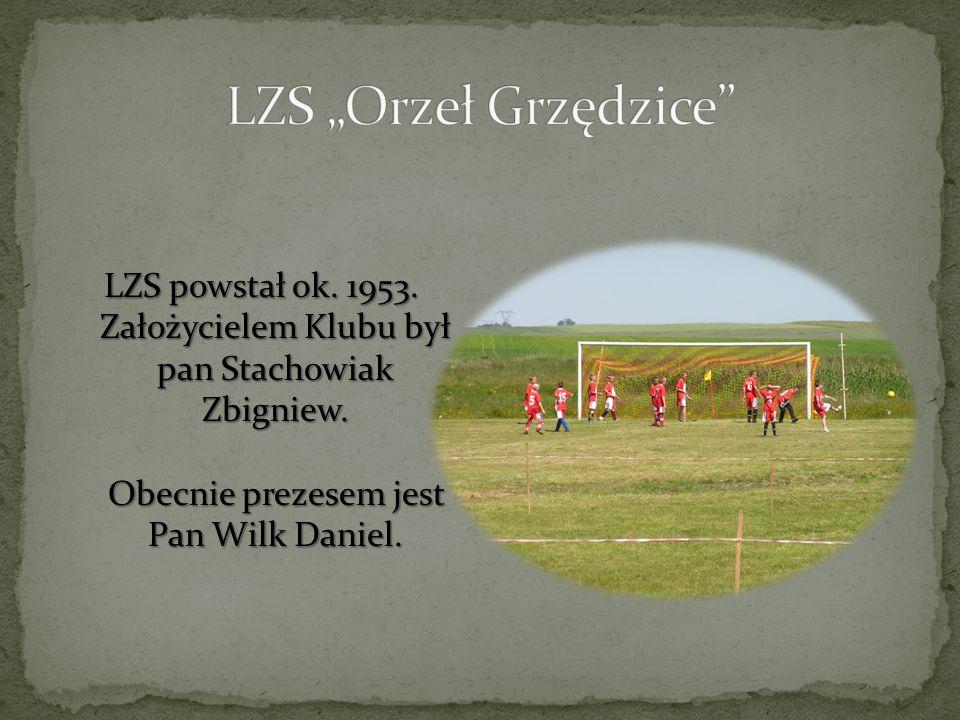 LZS powstał ok. 1953. Założycielem Klubu był pan Stachowiak Zbigniew. Obecnie prezesem jest Pan Wilk Daniel.