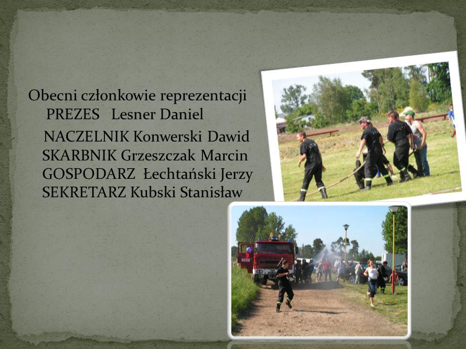 Obecni członkowie reprezentacji PREZES Lesner Daniel NACZELNIK Konwerski Dawid SKARBNIK Grzeszczak Marcin GOSPODARZ Łechtański Jerzy SEKRETARZ Kubski