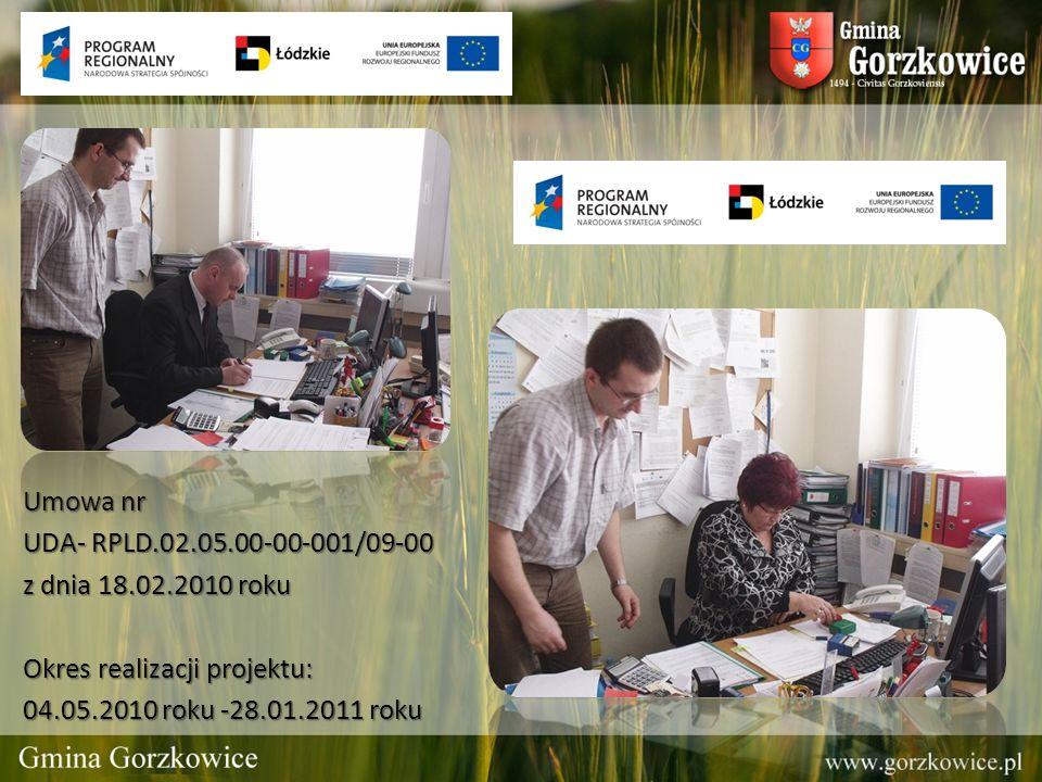 Umowa nr UDA- RPLD.02.05.00-00-001/09-00 z dnia 18.02.2010 roku Okres realizacji projektu: 04.05.2010 roku -28.01.2011 roku