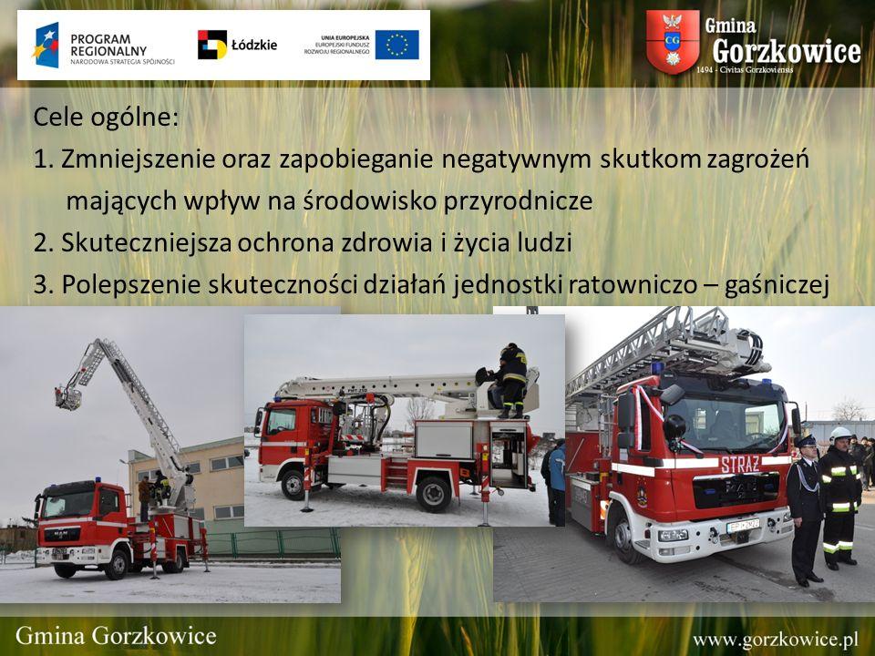 Cele ogólne: 1. Zmniejszenie oraz zapobieganie negatywnym skutkom zagrożeń mających wpływ na środowisko przyrodnicze 2. Skuteczniejsza ochrona zdrowia