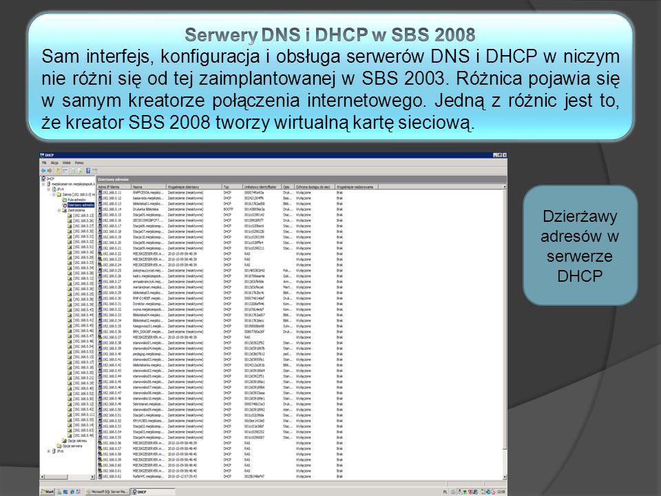 DHCP i DNS Dzierżawy adresów w serwerze DHCP