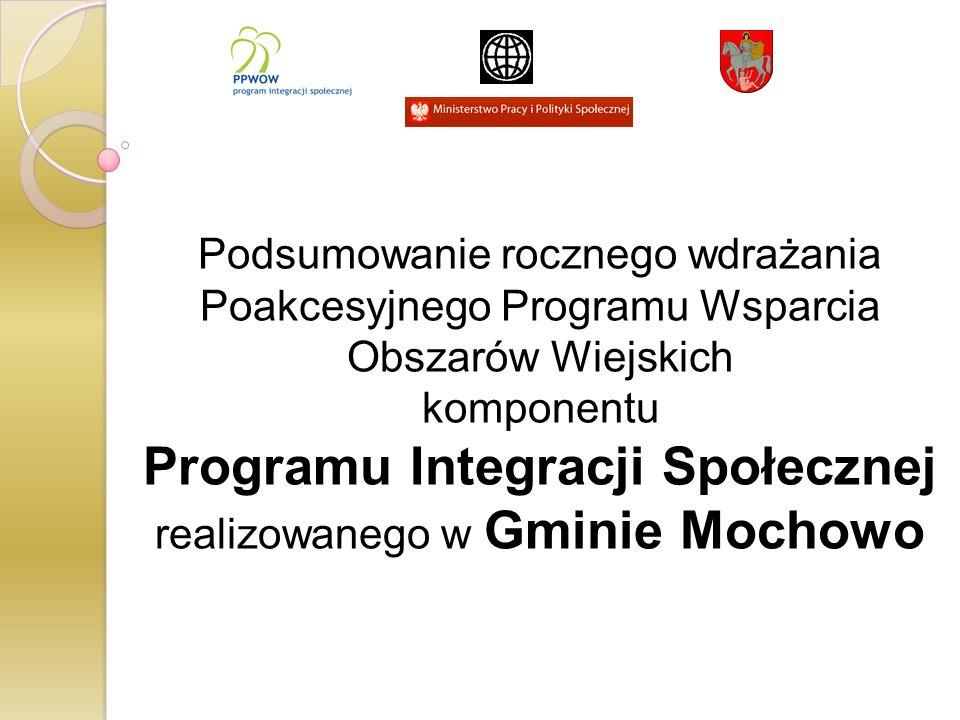 Realizacja Programu Integracji Społecznej w Gminie Mochowo przyczynia się do podniesienia poziomu spójności społecznej i zmniejszenia wykluczenia społecznego.
