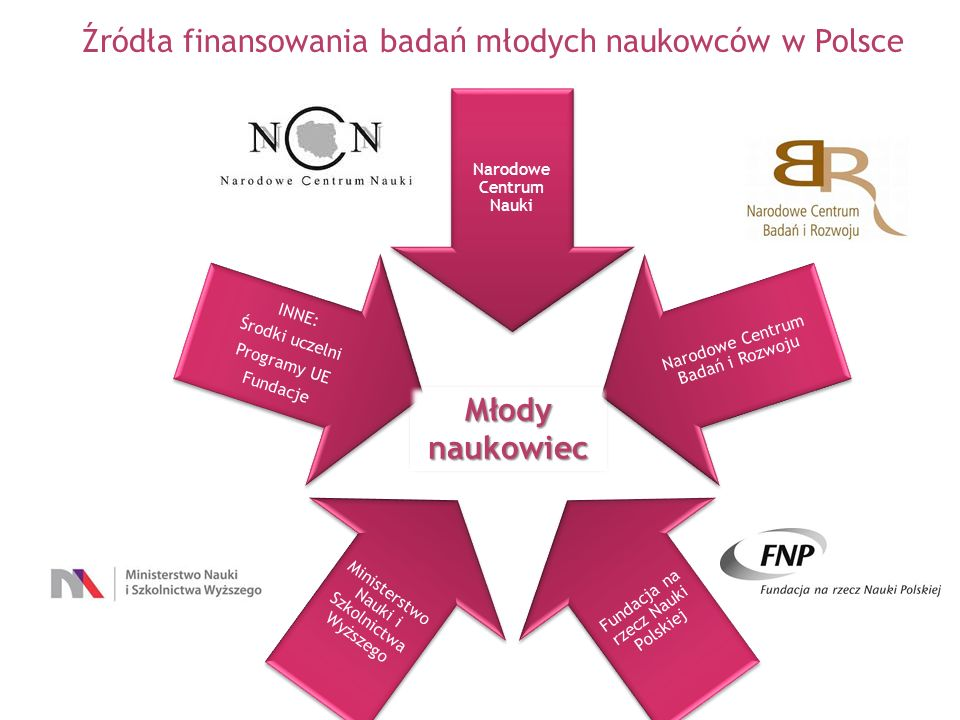 Narodowe Centrum Nauki Narodowe Centrum Badań i Rozwoju Fundacja na rzecz Nauki Polskiej Ministerstwo Nauki i Szkolnictwa Wyższego INNE: Środki uczeln