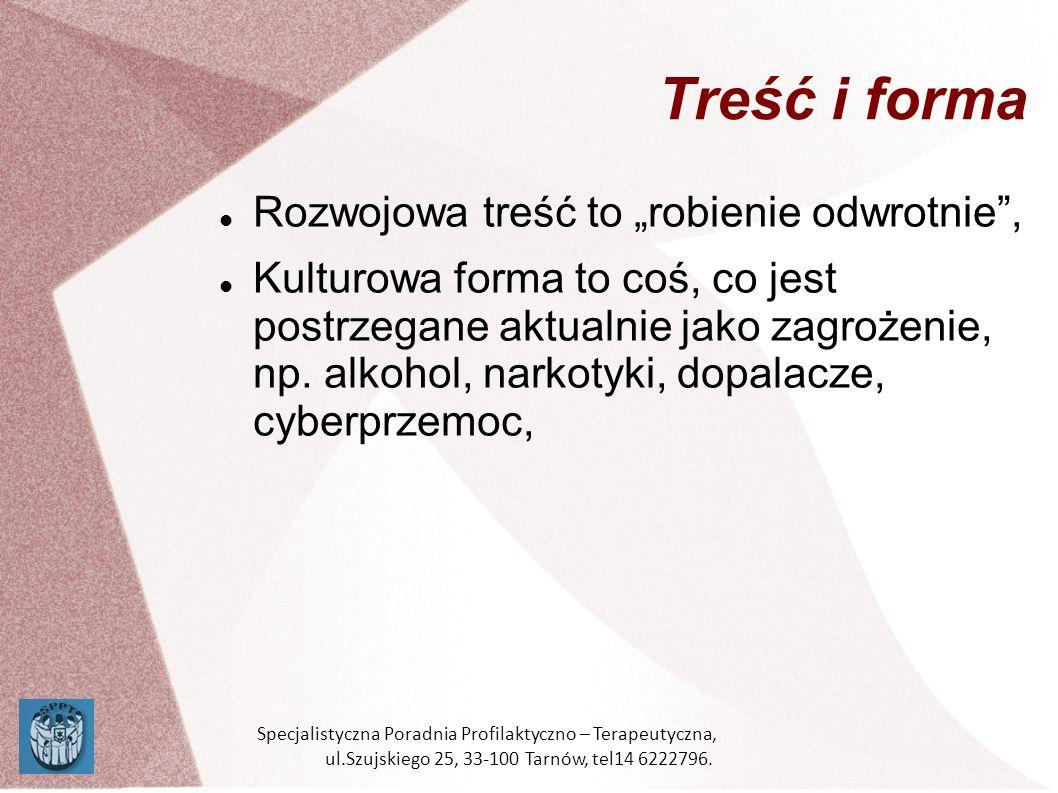 Mechanizm społeczny: Reakcja na nowe zagrożenie STOP NARKOTYKOM Specjalistyczna Poradnia Profilaktyczno – Terapeutyczna, ul.Szujskiego 25, 33-100 Tarnów, tel14 6222796.