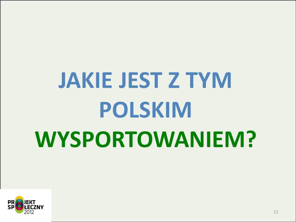 JAKIE JEST Z TYM POLSKIM WYSPORTOWANIEM? 12