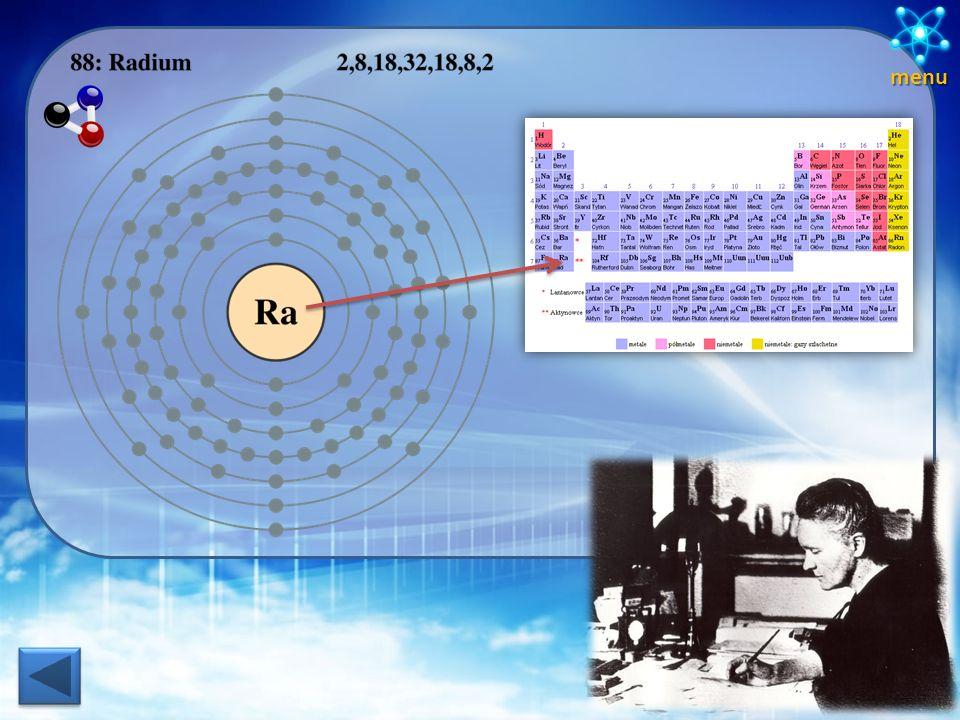 Odkrycia - CHEMIA Rad Polon Dzięki badaniom nad minerałami promieniotwórczymi państwo Curie doszli do wniosku że zawierają one jakiś dodatkowy pierwia
