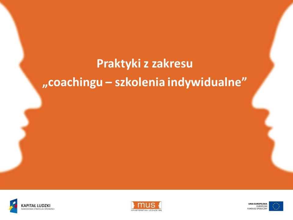 Praktyki z zakresu coachingu – szkolenia indywidualne
