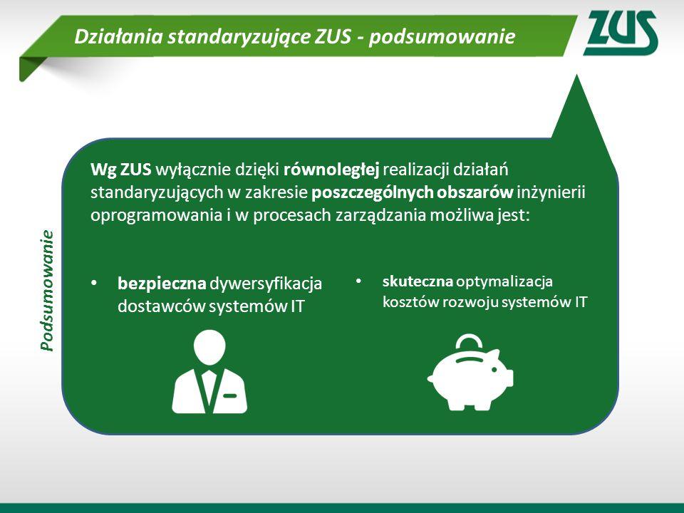 Wg ZUS wyłącznie dzięki równoległej realizacji działań standaryzujących w zakresie poszczególnych obszarów inżynierii oprogramowania i w procesach zar