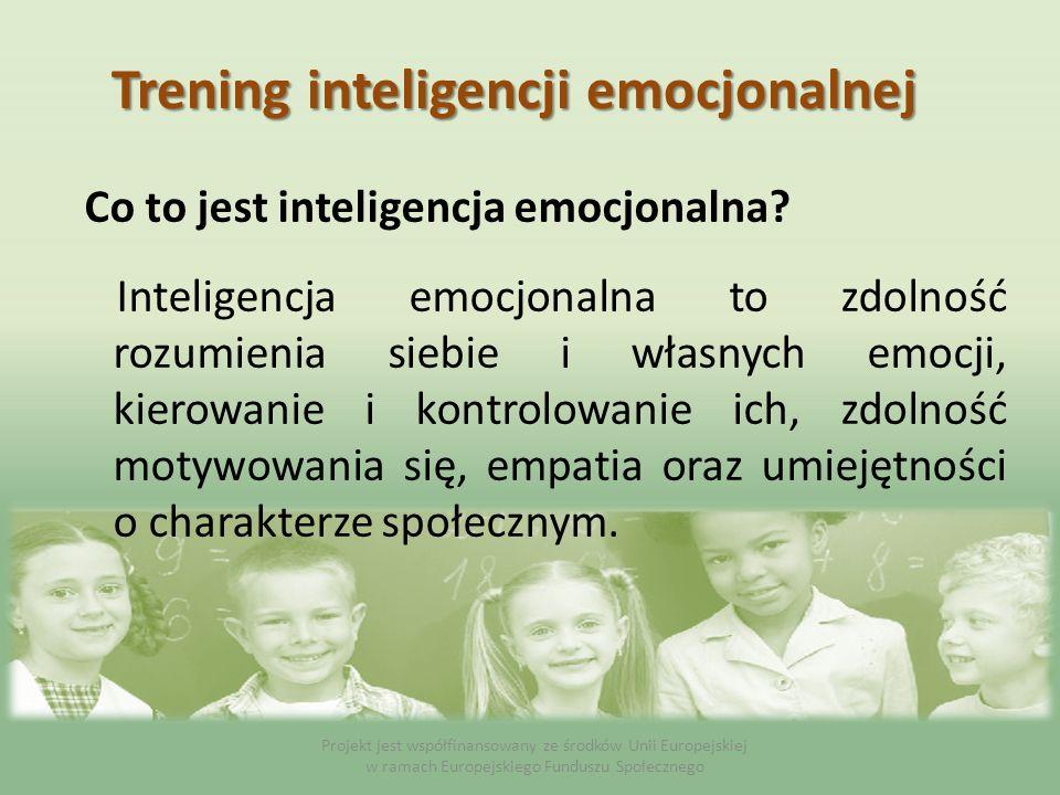 Co to jest inteligencja emocjonalna? Inteligencja emocjonalna to zdolność rozumienia siebie i własnych emocji, kierowanie i kontrolowanie ich, zdolnoś