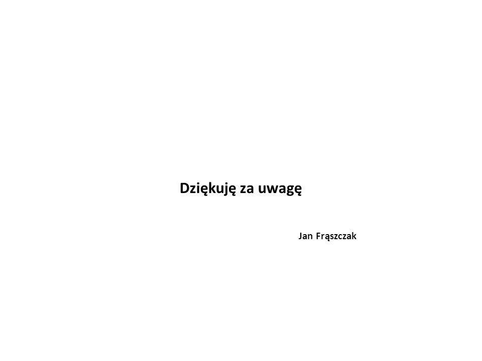 Dziękuję za uwagę Jan Frąszczak