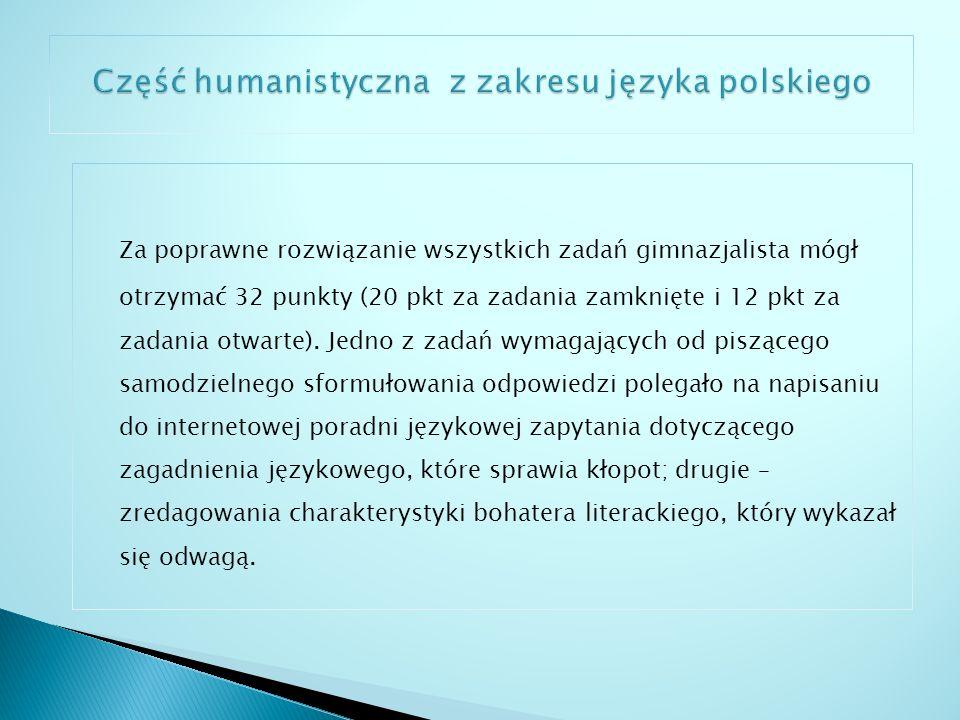 Kraj – 62% Województwo podlaskie – 61,3% Miasto Suwałki – 60,8% Gimnazjum nr 5 z Oddziałami Integracyjnymi im.