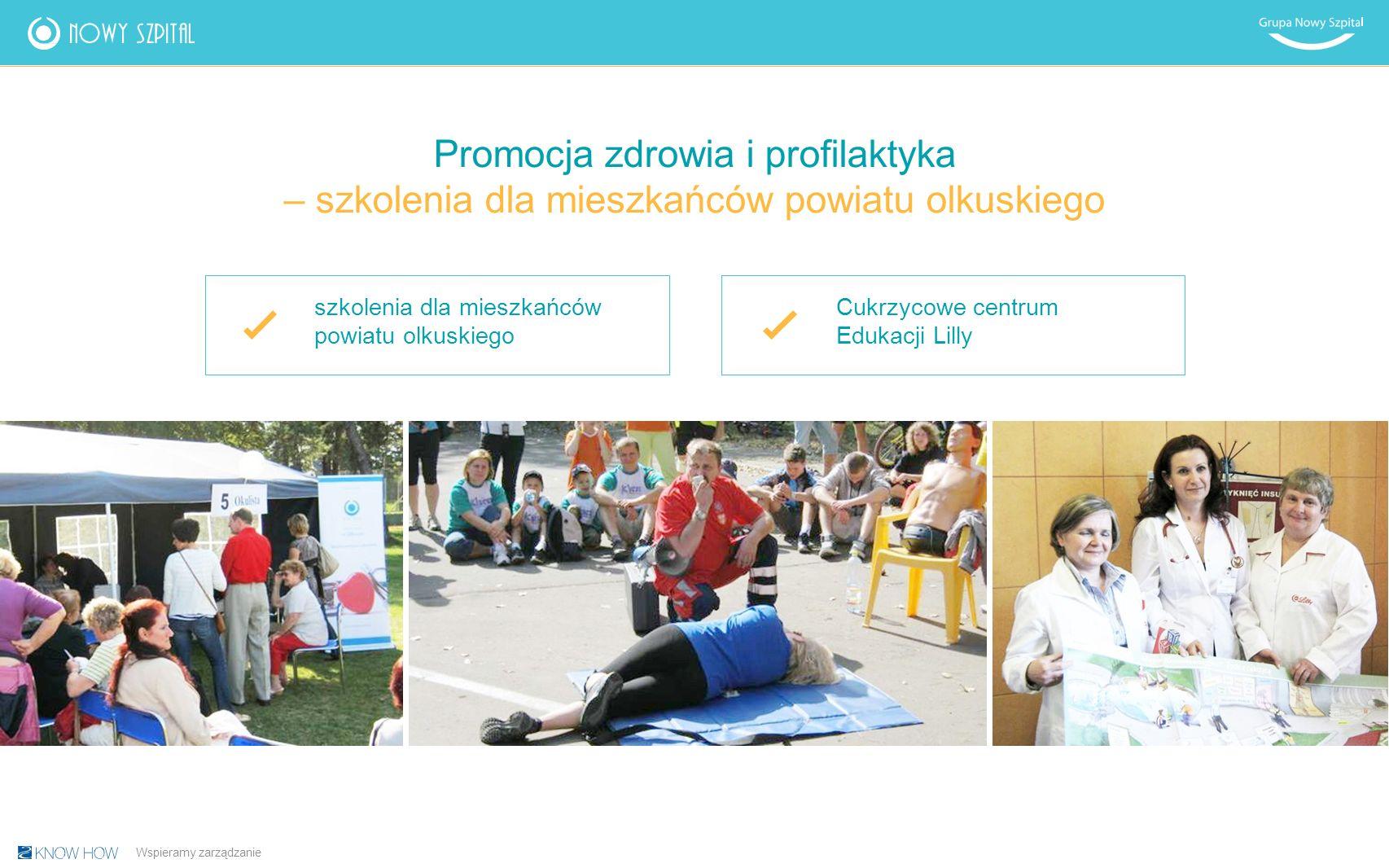 Promocja zdrowia i profilaktyka – szkolenia dla mieszkańców powiatu olkuskiego szkolenia dla mieszkańców powiatu olkuskiego Cukrzycowe centrum Edukacji Lilly Wspieramy zarządzanie