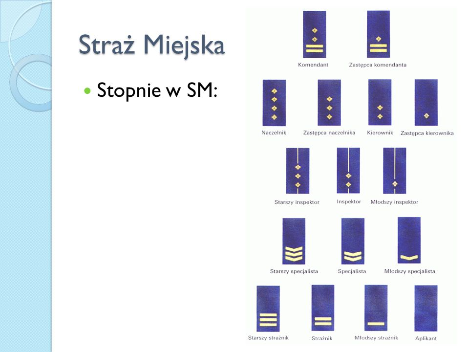 Straż Miejska Stopnie w SM: