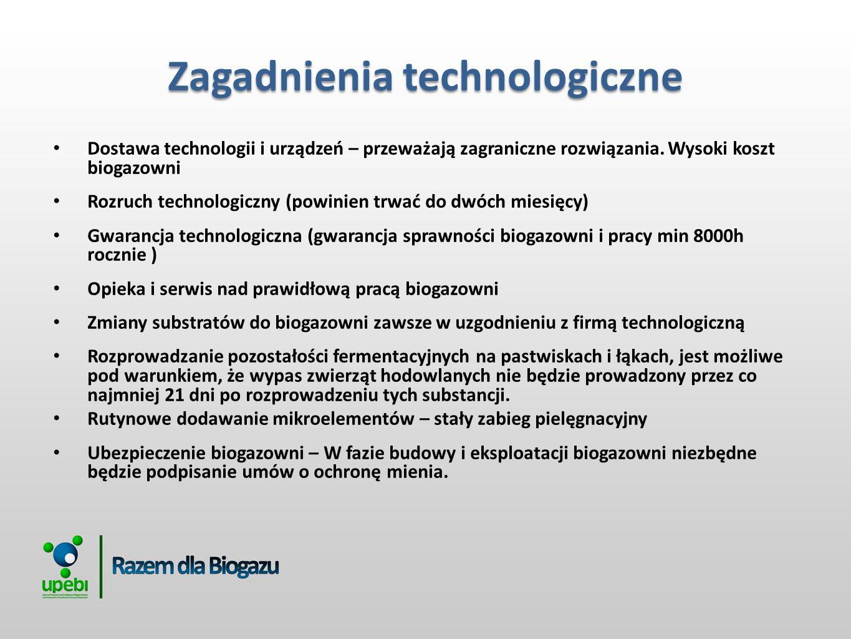 Dostawa technologii i urządzeń – przeważają zagraniczne rozwiązania.