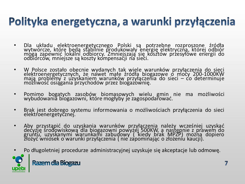 Dla układu elektroenergetycznego Polski są potrzebne rozproszone źródła wytwórcze, które będą stabilnie produkowały energię elektryczną, której odbiór mogą zapewnić lokalni odbiorcy.
