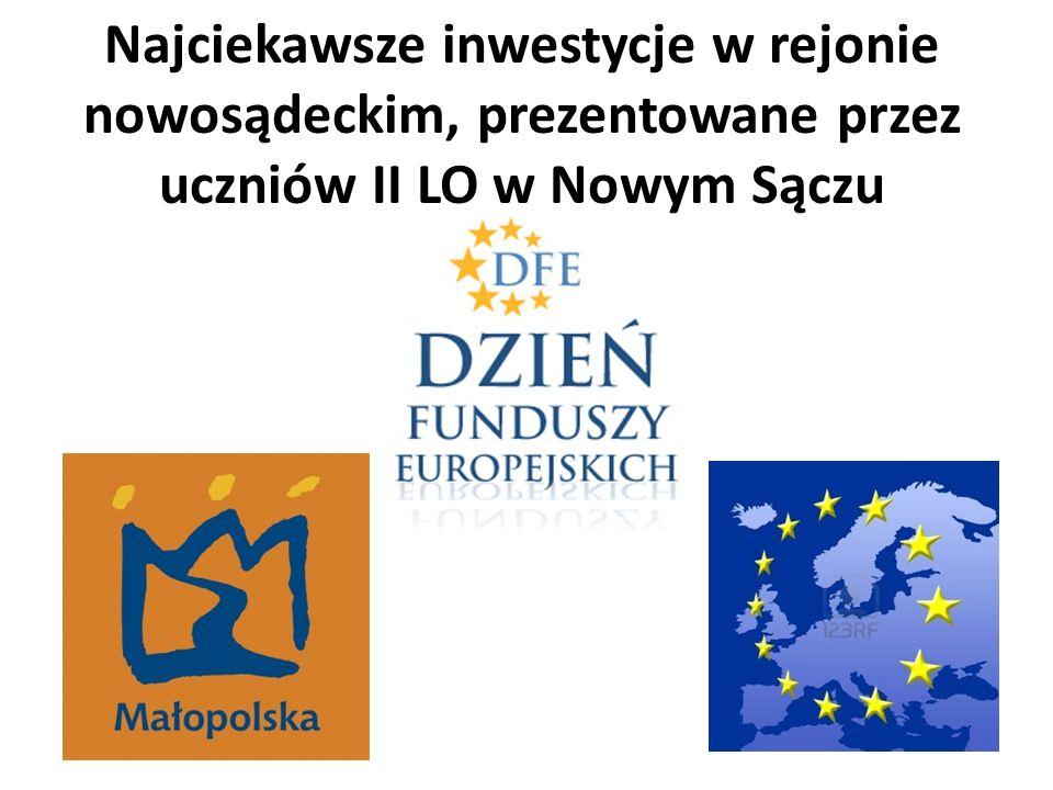 Najciekawsze inwestycje w rejonie nowosądeckim, prezentowane przez uczniów II LO w Nowym Sączu