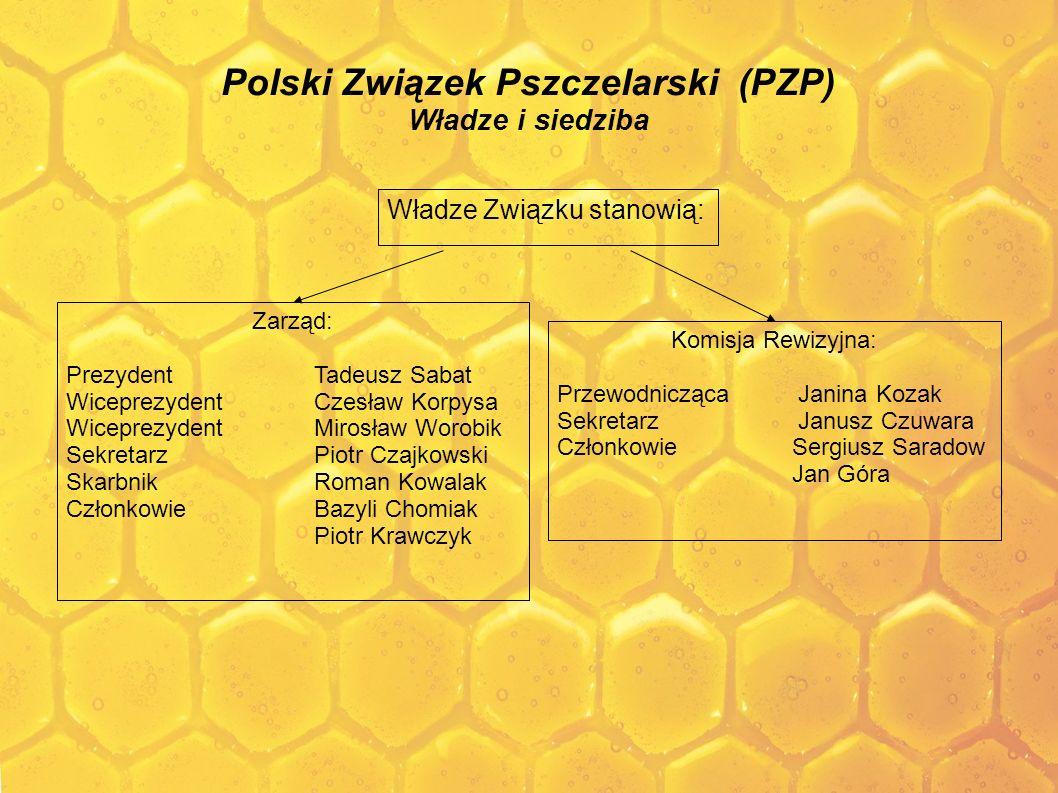 Polski Związek Pszczelarski (PZP) Władze i siedziba Władze Związku stanowią: Zarząd: Prezydent Tadeusz Sabat Wiceprezydent Czesław Korpysa Wiceprezyde