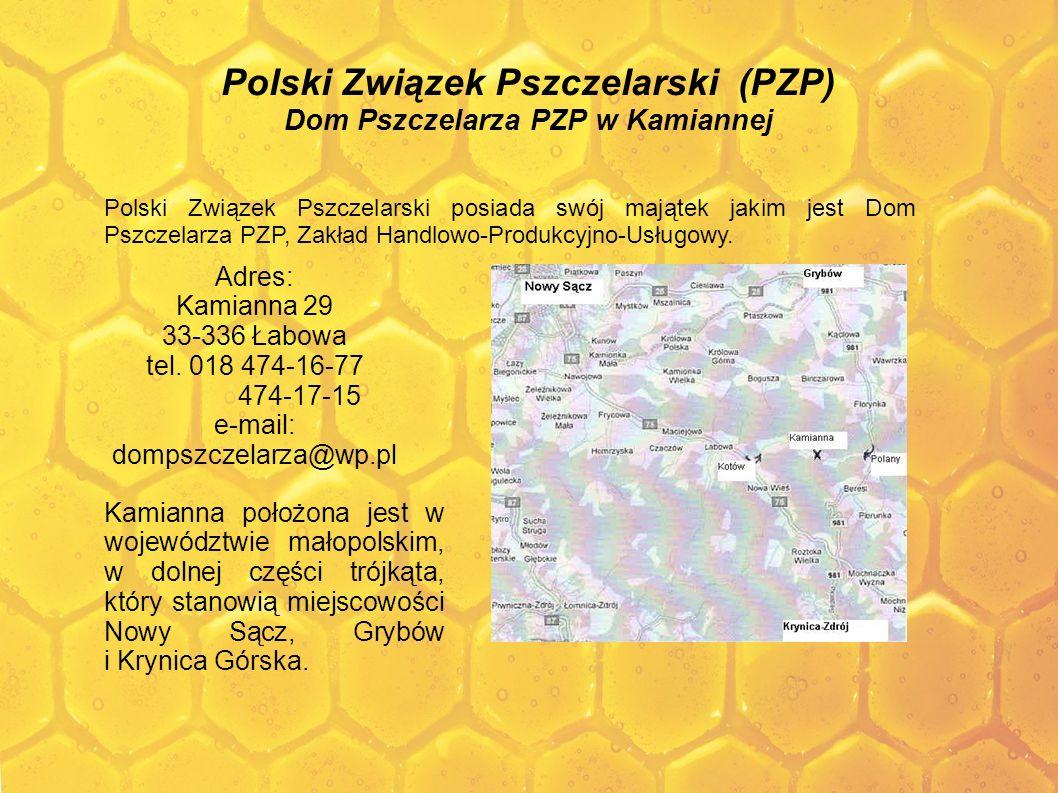 Polski Związek Pszczelarski (PZP) Dom Pszczelarza PZP w Kamiannej Polski Związek Pszczelarski posiada swój majątek jakim jest Dom Pszczelarza PZP, Zak