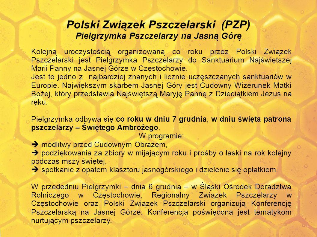 Polski Związek Pszczelarski (PZP) Pielgrzymka Pszczelarzy na Jasną Górę Kolejną uroczystością organizowaną co roku przez Polski Związek Pszczelarski j