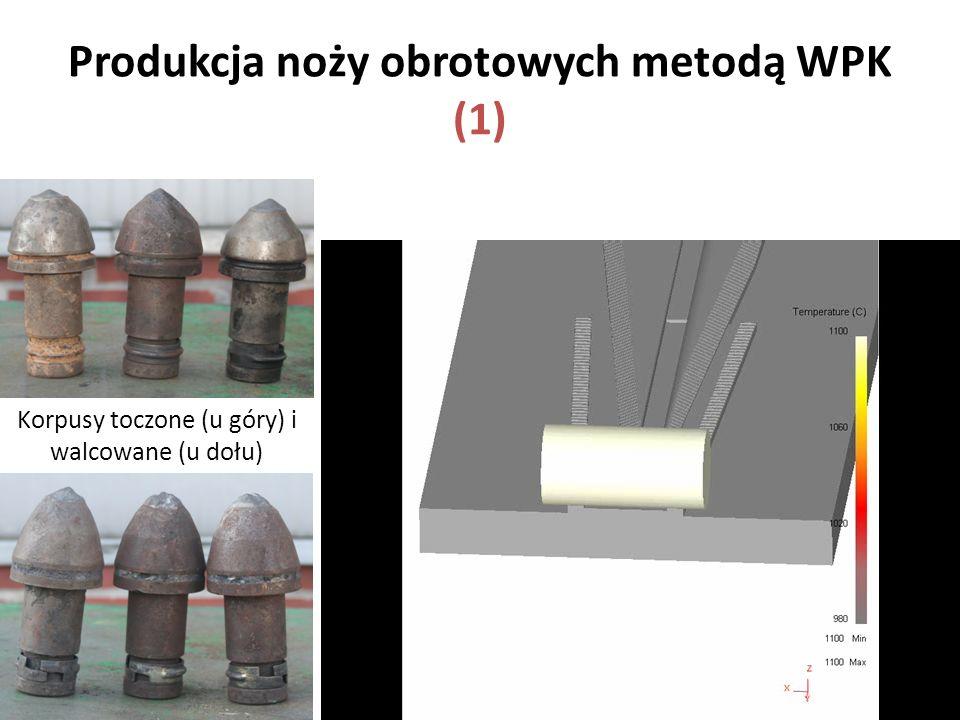 Produkcja noży obrotowych metodą WPK (1) Korpusy toczone (u góry) i walcowane (u dołu)