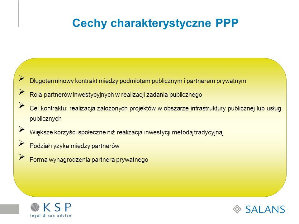 Długoterminowy kontrakt między podmiotem publicznym i partnerem prywatnym Rola partnerów inwestycyjnych w realizacji zadania publicznego Cel kontraktu
