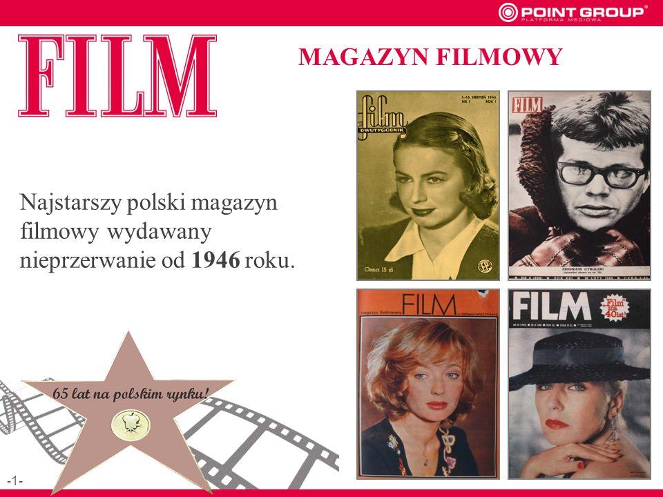 Najstarszy polski magazyn filmowy wydawany nieprzerwanie od 1946 roku. MAGAZYN FILMOWY -1-