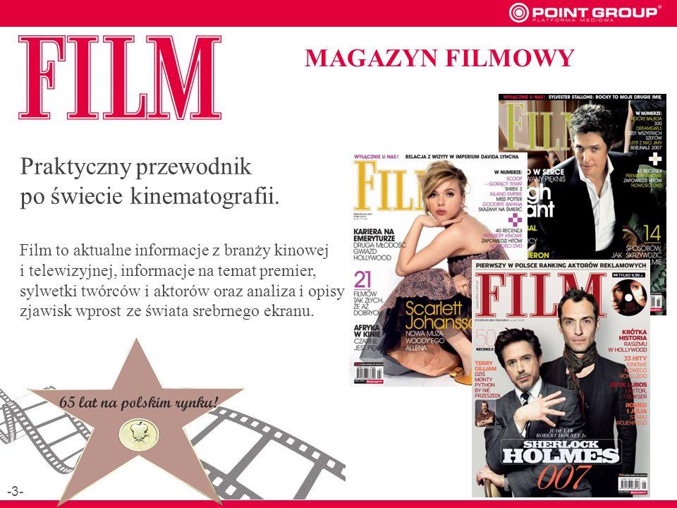 MAGAZYN FILMOWY Praktyczny przewodnik po świecie kinematografii.