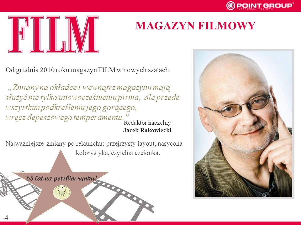 Od grudnia 2010 roku magazyn FILM w nowych szatach.