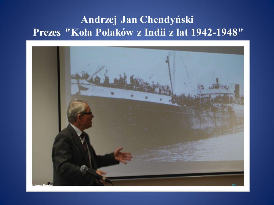 Roman Gutowski Sekretarz Koła Polaków z Indii z lat 1942-1948