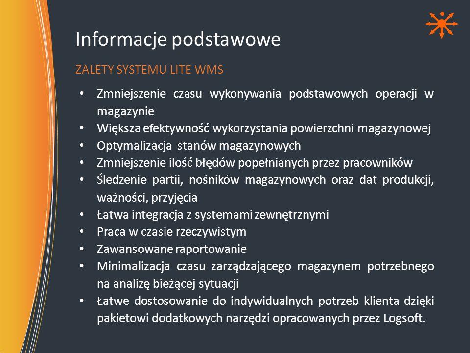 ProduktyFirmy Struktura magazynu Przyjęcia Przesunię cia Wydania Inwentaryz acja Prezentacja systemu BUDOWA SYSTEMU