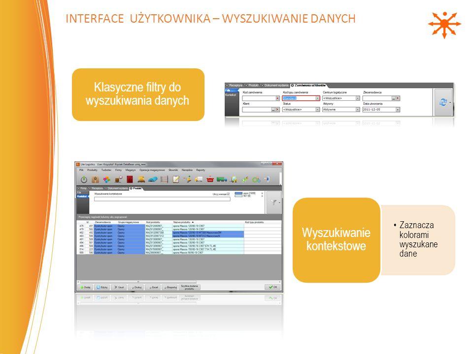 Umożliwia ograniczenie widoczności danych przypisanych do Centrum Logistycznego (np.